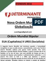 Globalização - Nova Ordem Mundial