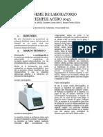 Informe de laboratorio Tiemple Acero 1045