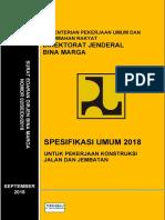 Spesifikasi Umum Teknis 2018