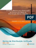 NDU 006 - Critérios Básicos Para Elaboração de Projetos de Redes de Distribuição Aéreas Urbanas V5 - R7