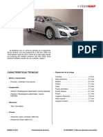 Mazda 6 2010 Caracteristicas Tecnicas, Identificacion, Dimensiones y Tabla de Motorizaciones