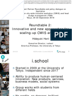 Innovative and New Approaches for Scaling-Up CWIS and FSM