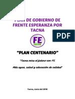 Plan de Gobierno Fe