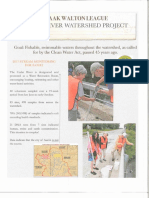 Izaak Walton League Cedar River Watershed report, February 2018