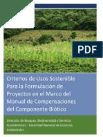 Anexo 3 Criterios de Uso Sostenible Manual de Compesacion Del Componente Biotico