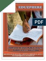 Haryana AE CIVIL Public Health Paper 10.9.17 Solutions