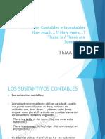Tema 4 (Sustantivos Contables, Incontables)