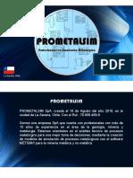 PRESENTACION PROMETALSIM SpA 2018