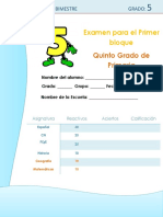 Examen 5° Grado Bloque 1