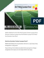 HARGA MURAH, Kontraktor Pembuat Lapangan Futsal, WA 0821-8620-5040