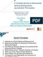 The Barcelona Principles for PR Measurement