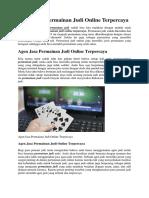 Agen Jasa Permainan Judi Online Terpercaya.docx