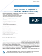 Malays and Eating Disorders in Singapore a Potential Ethnic Risk in a Southeast Asian Society