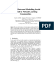 Mining Data and Modeling Social Capital in Virtual Learning Communities