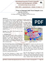 Quality Assessment of Water in Municipal Solid Waste Dumpsite Area