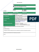 Psi 16 2012 Risk Management Policy