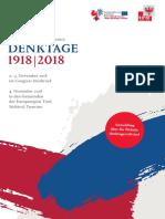 Denktage 1918/2018 - Programm