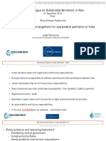 Institutional Arrangement for Sustainable Sanitation in India
