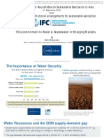 IFC's Commitment to Water & Wastewater in Emerging Markets