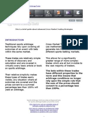 Sports betting arbitrage pdf file broad church killer betting