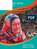 Human Rights Report of Indian Occupied Kashmir , May -August 2018