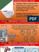 Suplier Mesin Air Hydrogen K Link WA 08114494181