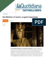 San Michele e Il Rosario Un Gesto Importante