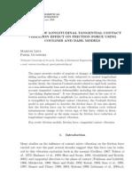 Analysis of Longitudinal Tangential Contact
