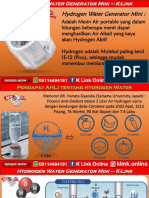 Mesin Air Hydrogen K Link Di Olx WA 08114494181