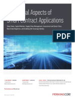Perkins Coie LLP More Legal Aspects of Smart Contract Applications White Paper