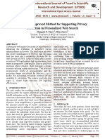 Review on Improved Method for Supporting Privacy Protection in Personalized Web Search