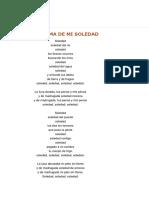 Poema de mi Soledad