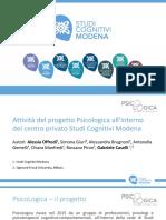 Attività del progetto Psicologica - SITCC2018