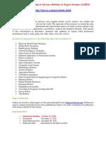 International Journal of Advance Robotics & Expert Systems (JARES)