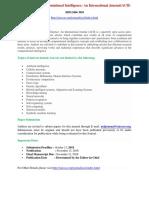 Advanced Computational Intelligence an International Journal ACII 1