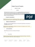 Budget Proposal Template