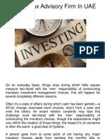 Federal Tax Advisory Firm in UAE