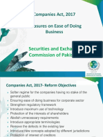 Measures on Ease of Doing Business in Companies Act, 2017