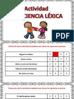 Conciencia Lexica Cuantas Palabras