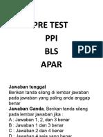 Soal Test Bls Ppi Apar