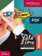 Programme de la fête du livre de Saint Etienne