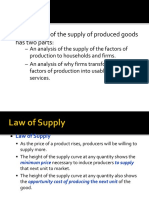 The Law of Supply and Equilibrium