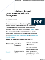 Neisseria Gonorrhoeae and Neisseria Meningitides