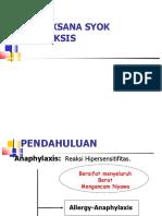 Management Syok Anafilaktik Unbrah
