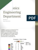 Basic Electronics [Course Summary I Think]