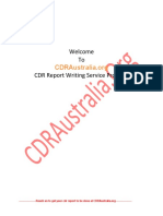 CDR Australia Sample Pdf | Engineering | Design