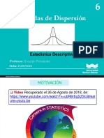 Sesion 6 Medidas de Dispersion 2018 II