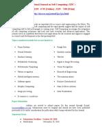 International Journal on Soft Computing