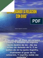 RESTAURANDO LA RELACION CON DIOS