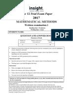 Insight 2017 Mathematical Methods Examination 1.pdf